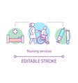 nursing service concept icon vector image vector image