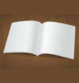 open blank brochure or magazine on wooden vector image vector image