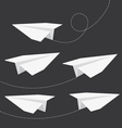 Origami folded paper planes collection vector image vector image