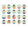 people avatars genealogical family tree elements vector image