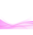 Pink wedding background smooth swoosh waves vector image vector image