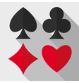 Playing cards suits flat icons vector image