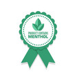 product contains menthol rosette isolated on vector image vector image