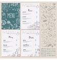 Restaurant Food Menu set Vintage Design with vector image vector image