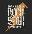 rock star lettering vector image vector image