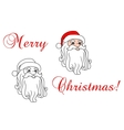 Santa Claus in red hat vector image