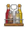 set glass shakers for salt and pepper vector image vector image