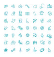 set line icons allergy food and pollen vector image vector image