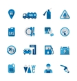 Set of Fuel Station Icon vector image vector image
