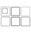 set - square decorative frames vector image