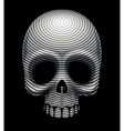 Skull engraving imitation vector image