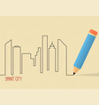 smart city vector image