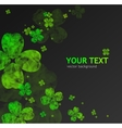 St Patricks Day abstract background vector image