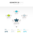 Star Icons Infographic template star vector image