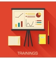 training concept design Analytics business desk vector image