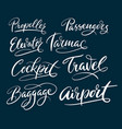 travel and airport typography vector image vector image
