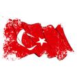 Turkye Flag Grunge vector image vector image