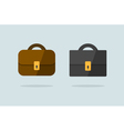 Two briefcase icons flat design vector image vector image