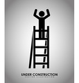under construction vector image vector image