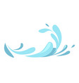 water splashes collection blue waves wavy symbols vector image