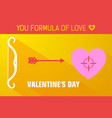 yellow valentines day background vector image vector image