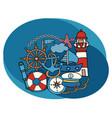 sea and nautical design set vector image