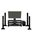 Set of HI-FI consumer electronics TV and audio vector image
