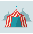 Vintage circus tent flat design vector image