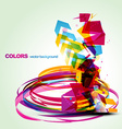 abstract colorful eps10 design vector image vector image