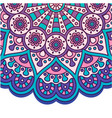 abstract mandala purple pink design image vector image