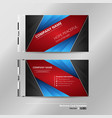 abstract of modern gradient blue red black vector image