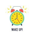 Alarm clock is ringing waking somebody up vector image vector image