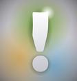 alert symbol design vector image vector image