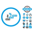 Annual Gentleman Help Flat Icon with Bonus vector image vector image