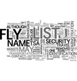 are you on the no fly list what you can do text vector image vector image