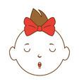 baby girl avatar character vector image