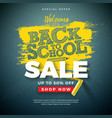 back to school sale design with typography letter vector image vector image