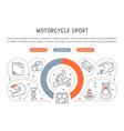 banner motorcycle sport vector image