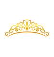 beauty golden tiara crown design vector image