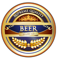 Beer Label - Ornate Vintage Design vector image vector image