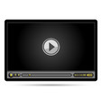 black video player vector image vector image