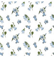 blue bell flowers on white background seamless vector image vector image