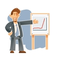 Business man and the presentation of sucsess vector image vector image
