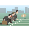 businessman run vector image vector image