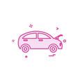 car repairing shop icon design vector image vector image