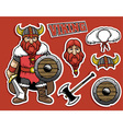 cartoon if viking warrior vector image vector image