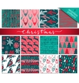 collection nine hand drawn winter holidays vector image vector image