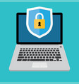 computer security concept icon vector image vector image