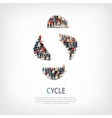 cycle people sign 3d vector image vector image