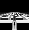 Dark labyrinth Stock vector image vector image